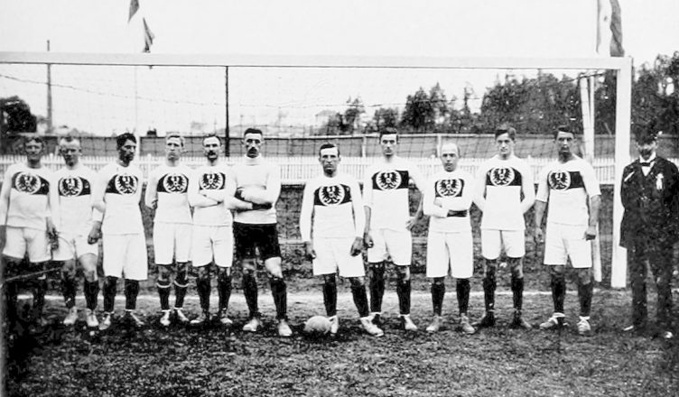 Сборная Германии накануне матча против сборной Российской империи