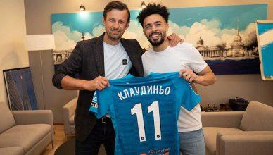 Клаудиньо подписал 5-летний контракт с «Зенитом»